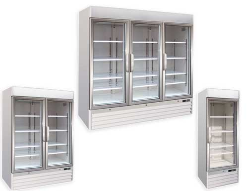Upright Glass Door Freezer