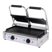 Contact Grill Twin / Ribbed Top & Smooth Bottom