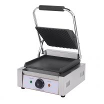 Contact Grill Single / Ribbed Top & Smooth Bottom