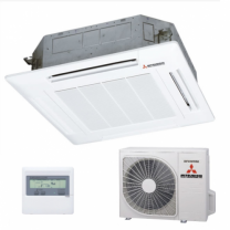 Mitsubishi Heavy Industries Air Conditioning FDTC60VF Indoor Panel SRC60ZMX-S RC-E5 Controller, 5.6KW, Single Phase