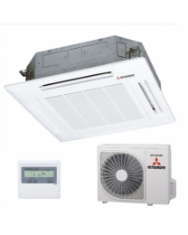 Mitsubishi Heavy Industries Air Conditioning FDTC36VF Indoor Panel SRC36ZMX-S RC-E5 Controller, 3.6KW, Single Phase