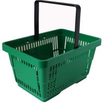 Green Plastic Shopping Baskets 28L
