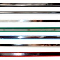 Pack of 23 Mirror Slatwall Clip-in Insert