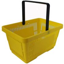 Yellow Plastic Shopping Baskets 28L